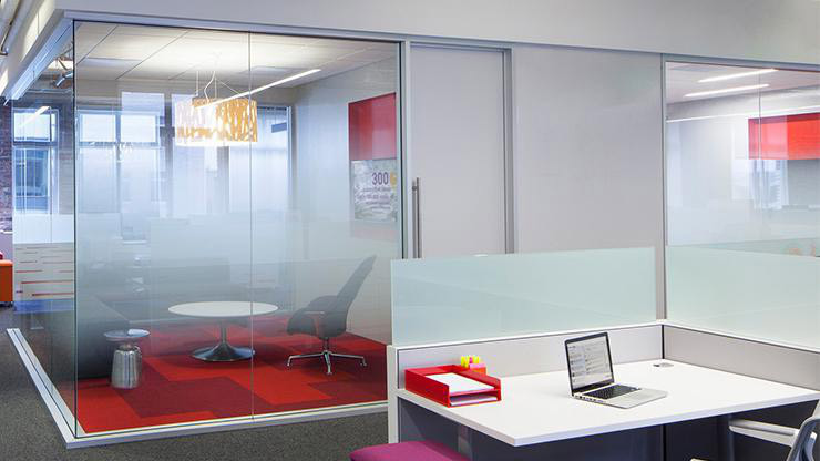frosted window film supports positive work space