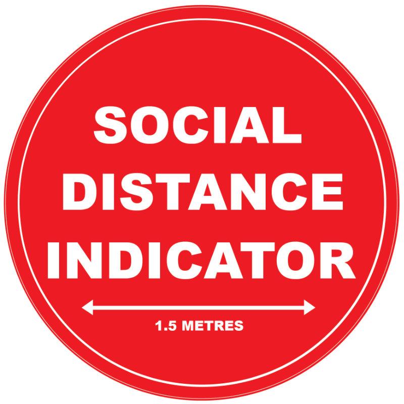 Social Distance Floor Sticker